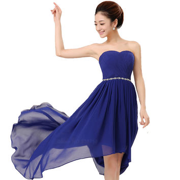 High Low Cocktail Dresses New Grace Crystal Dress Formal evening Party gown Vestido de noiva