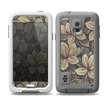 The Vintage Green Pastel Flower pattern Skin Samsung Galaxy S5 frē LifeProof Case