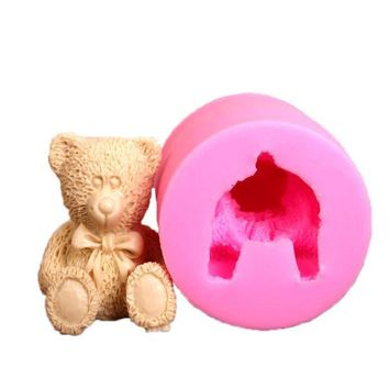 ICIK272 3D Bear Cake Bakeware Mold 3D Silicone Mold DIY Chocolate Jelly Candy Pastry Decor Soap Mould