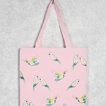 Parrot Graphic Tote Bag
