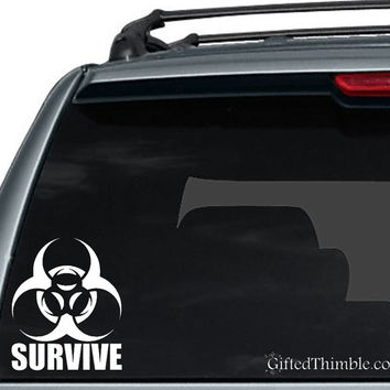 Survive Decal / Zombie Decal / Toxic Decal