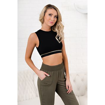 Useful To Me Cropped Top (Black)