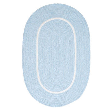 Colonial Mills SL15R084X108 Silhouette Blue Oval: 7 Ft. x 9 Ft. Oval Rug - (In Oval)