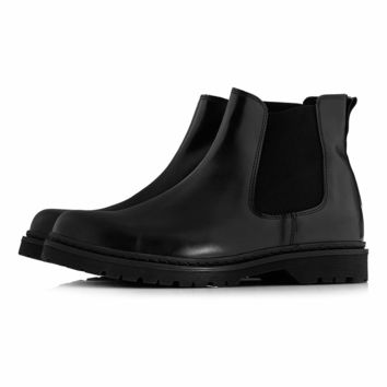 'Leonard' Black Chelsea - View All Shoes - Shoes and Accessories - TOPMAN USA