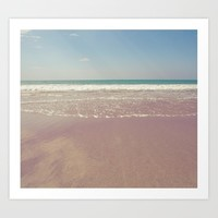 The beach Art Print by vanessagf