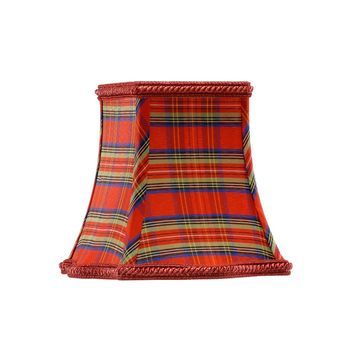 Square Cabra Plaid Chandelier Shade S/6