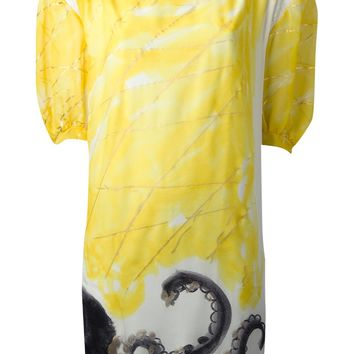 Tsumori Chisato Panelled Octopus Print Dress