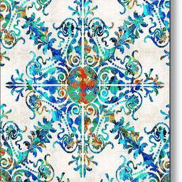 Colorful Pattern Art - Color Fusion Design 6 By Sharon Cummings Metal Print