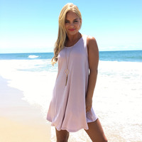 Stop The World Jersey Dress In Pink