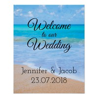 Welcome to our Wedding Tropical Destination Poster