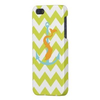 Green chevron anchor with dolphin iPhone 5 case from Zazzle.com
