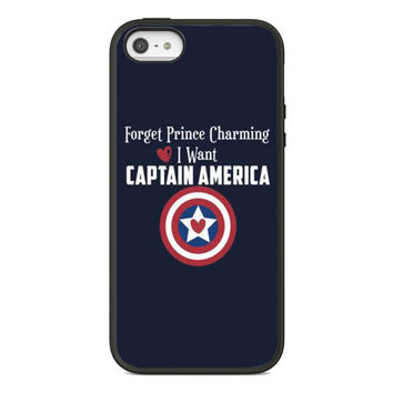 Forget Prince Charming, I want Captain America AM23 for iPhone Case and Samsung Galaxy Case