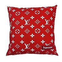 LV Louis Vuitton X Supreme Popular Family Pure Manual Luxury Hold Pillow Cushion For Leaning On I