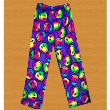 Confetti & Friends Purple Smiley Face Pajama Pants