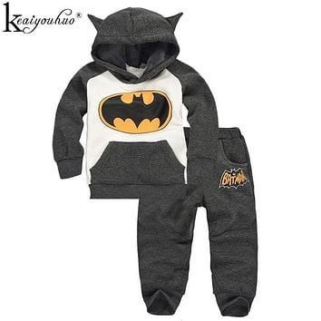 Boys Sport Suit Autumn Winter Girls Clothes Sets 2017 Batman Children Clothing Sets Tracksuit Costume For Kids Baby Girl Clothes