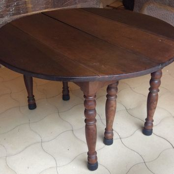 French Drop-leaf Dining Table