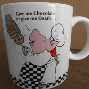 Coffee mug Joy of Pigging Out by Applause coffee Ceramic cups  #5966