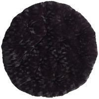Papasan Cushion - Fuzzy Black$90.00