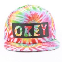 OBEY, Phil Snap-Back Hat - Tie Dye - Snap-back Hats - MOOSE Limited