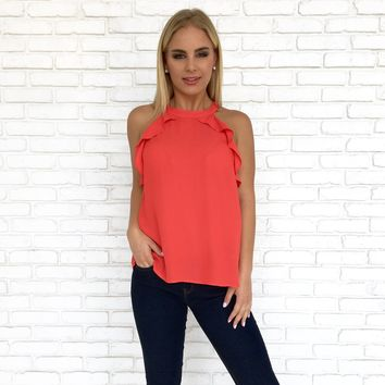 True Love Blouse in Fire Red