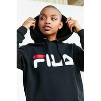 FILA Casual Long Sleeve Plus Velvet Hooded Top Sweater Pullover Hoodie