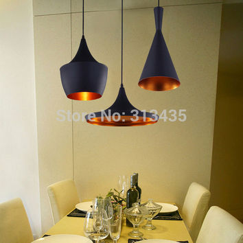 3pcs/pack Black New ABC(Tall,Fat and Wide) Design by tom dixon copper shade musical pendant lamp Beat Light,110V/230V