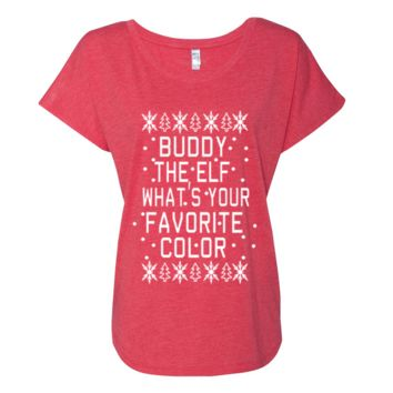 Buddy The Elf What's Your Favorite Color Christmas Shirt
