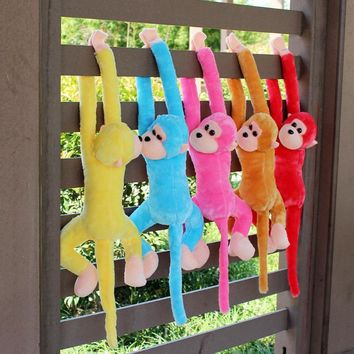 70cm long arm monkey from arm to tail plush toy colorful monkey curtains monkey stuffed animal doll for children gift 10 colors
