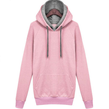 Cute & Casual ~ Dual Hooded Pullover Sweatshirt