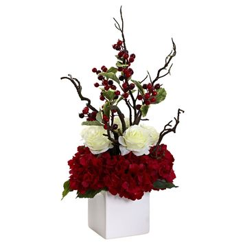 Holiday Cheers Arrangement w/ Vase