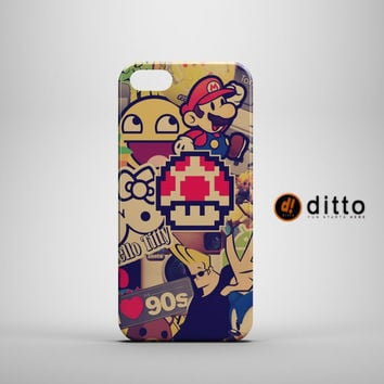 I LOVE THE 90'S Design Custom Case by ditto! for iPhone 6 6 Plus iPhone 5 5s 5c iPhone 4 4s Samsung Galaxy s3 s4 & s5 and Note 2 3 4
