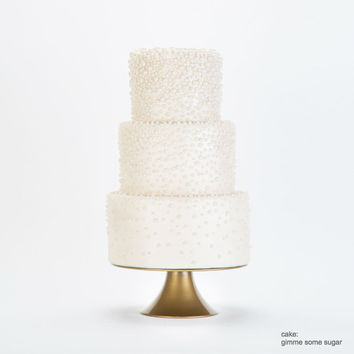 Gold Round Wedding Cake Stand