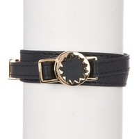 House of Harlow 1960 | Sunburst Leather Wrap Bracelet | Nordstrom Rack