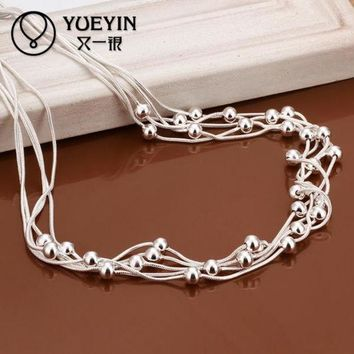 DCCKHY9 18 inches rope chain new arrive hot sale silver plated long chain women men necklace jewelry for pendant N213