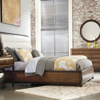 Miramar Queen Upholstered Leather Bed