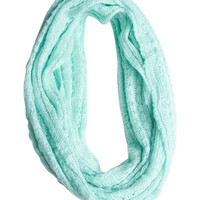Open Weave Knit Eternity Scarf | Shop Accessories at Wet Seal