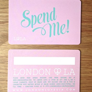 ♥ LONDON LOVES LA GIFT CARD ♥