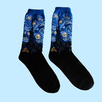 Vincent van Gogh's Starry Night Socks - Long