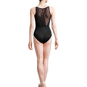 Adult Rouleaux Braid Back Cami Leo MJ7197 Black