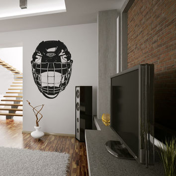 Vinyl Wall Decal Sticker Hockey Mask #OS_AA723