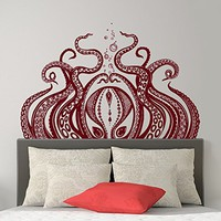 Octopus Wall Decal Tentacles Vinyl Decals Kraken Octopus Sticker Sea Scuba Ocean Decor Nautical Wall Decals Bathroom Bedroom Decal SN26