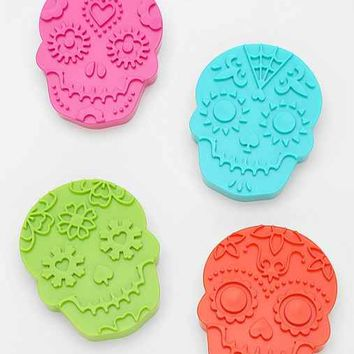 Sugar Skull Cookie Cutter - Set Of 4- White One