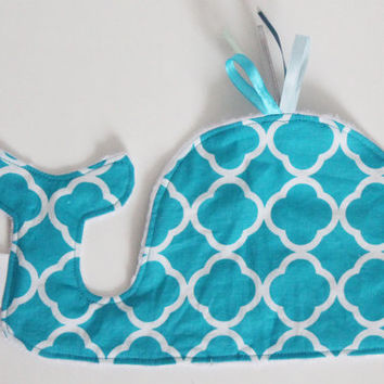 CUSTOM Whale Taggie, Soft, Textured toy, Minky, Ribbons, Sensory toy, Tactile Stimulation, Tags, Cute baby gift