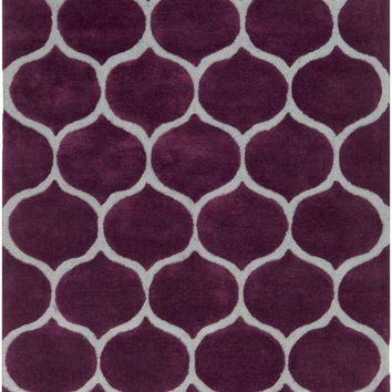 Mamba Geometric Area Rug Purple