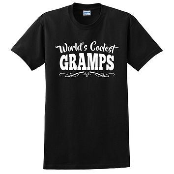 World's coolest gramps Father's day birthday gift ideas for new grandpa proud grandfather gifts for him T Shirt