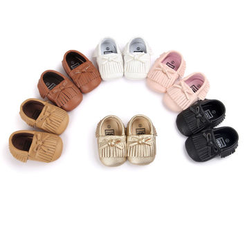 Soft Bottom Fashion Tassels Baby Moccasin Prewalkers Boots