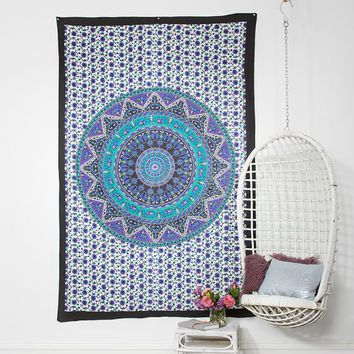 Printed Tapestries, Navy/Purple