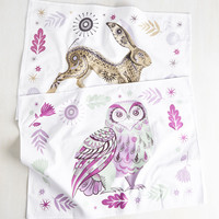Force of Habitat Tea Towel Set in Cool | Mod Retro Vintage Kitchen | ModCloth.com