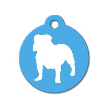 Bulldog - Silhouette Pet Tag