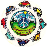 Hippie Beetle Bumper Stickers Bug Decals